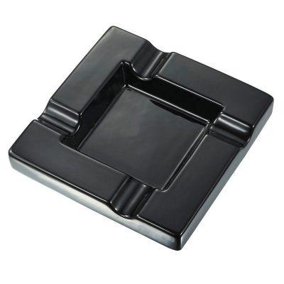 Black Ceramic Cigar Ashtray