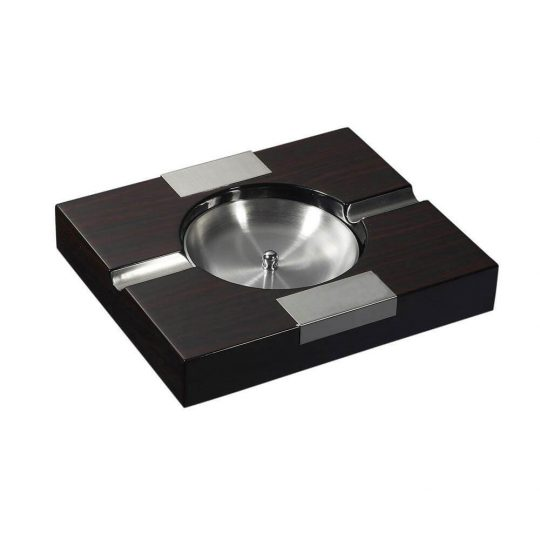 Walnut Wood Finish Cigar Ashtray CA-018