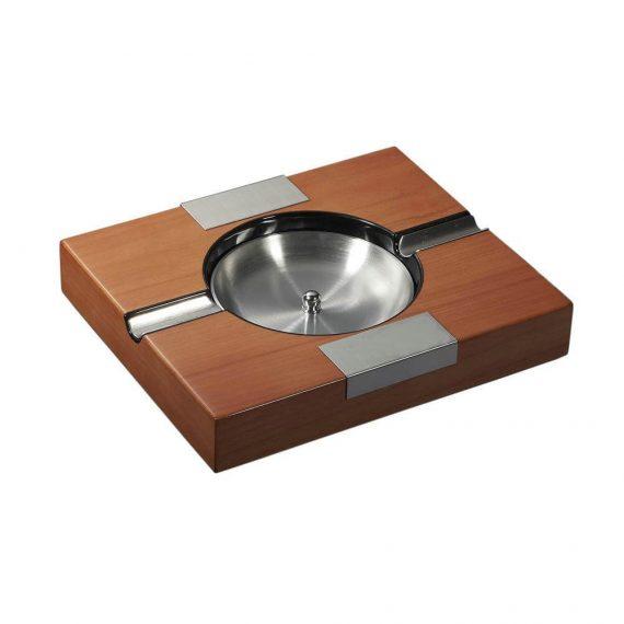 Brown Wood Finish Cigar Ashtray CA-018