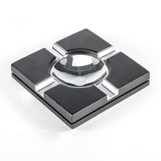 Black Wood Square Cigar Ashtray CA-042