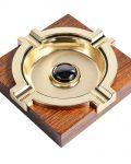 Brown Wood Square Cigar Ashtray CA-043