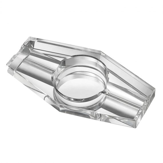 2 Cigar Hexagon Crystal Ashtray CA-046