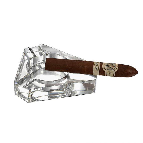 Triangular Cigar Crystal Ashtray CA-049