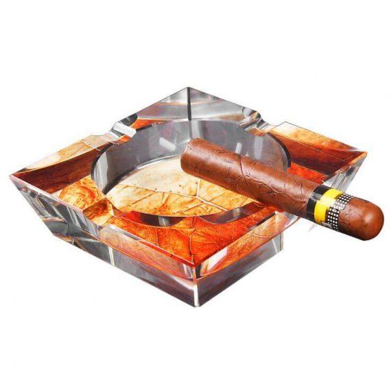 Square 4 Cigar Crystal Ashtray CA-052
