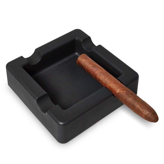 Black Silicon Cigar Ashtray CA-075