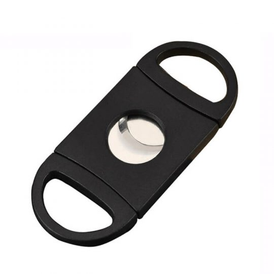 Black Dual Blade Guillotine Cigar Cutter CC-1012