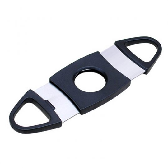 Black Plastic Guillotine Cigar Cutter CC-1014