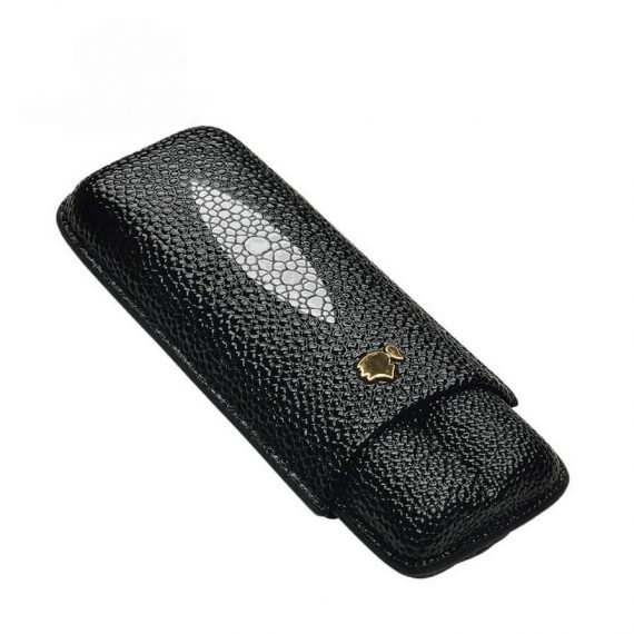 Patterned Leather Cigar Case CC-8022