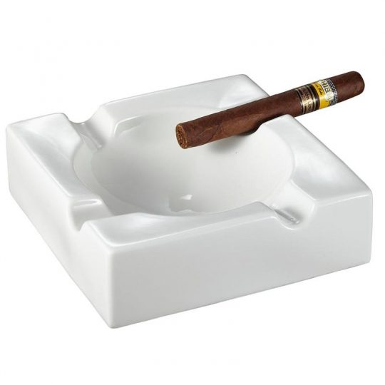 Large White Ceramic Cigar Ashtray CA-008