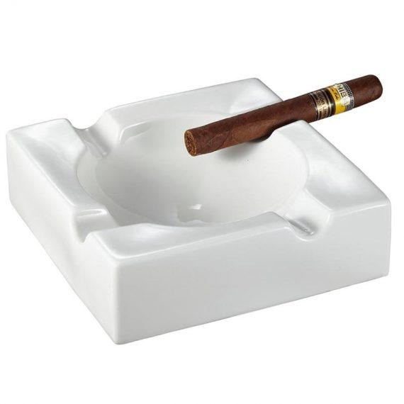 Large White Ceramic Cigar Ashtray CA-008