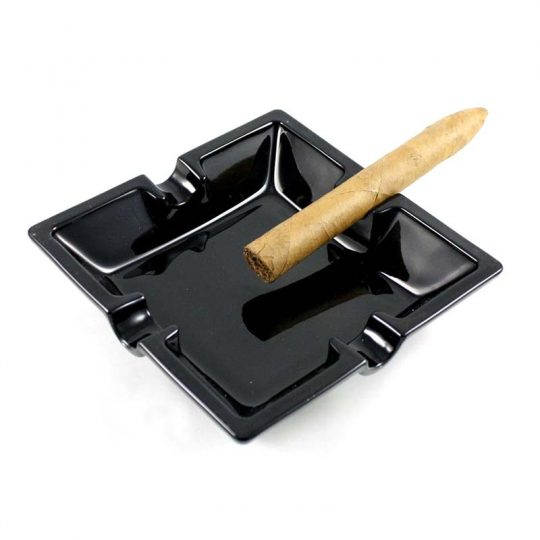 Large Square Black Ceramic Ashtray CA-011
