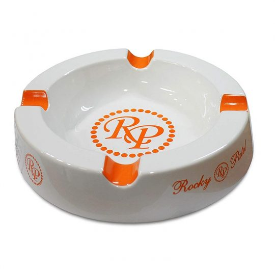 Rocky Patel Round Ashtray White