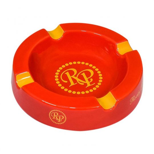 Rocky Patel Round Ashtray White Red