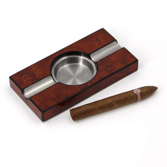 Ebony Wood Cigar Ashtray CA-0369