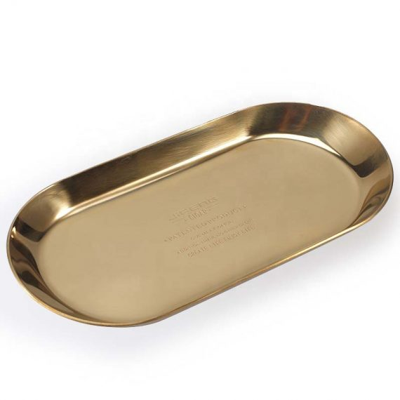 Stainless Steel Cigar Ashtray and Rest with Punch Cutter
