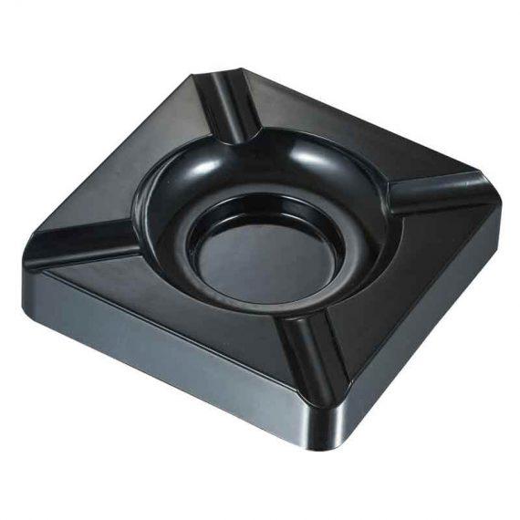 Black Metal Square Cigar Ashtray CA-040
