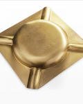 Brass Square Metal Cigar Ashtray CA-041