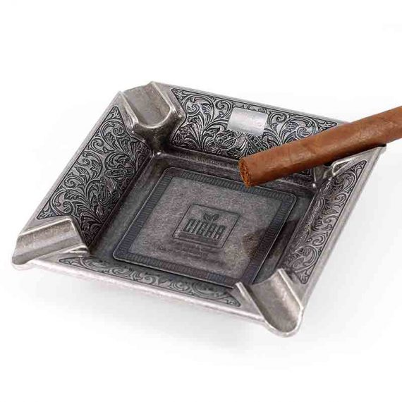 Vintage Square Metal Cigar Ashtray CA-041