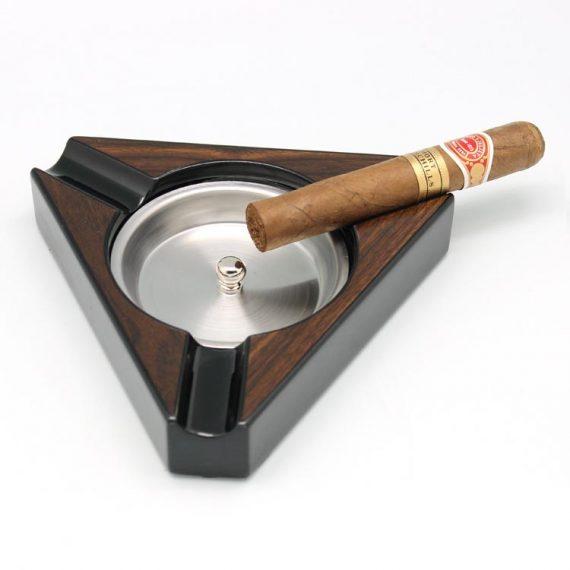 Triangle Wood Cigar Ashtray CA-0672