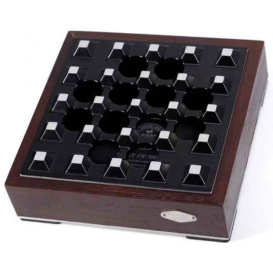Black Grid Wood Metal Cigar Ashtray CA-088