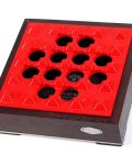 Red Grid Wood Metal Cigar Ashtray CA-088