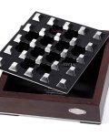 Black Grid Wood Metal Cigar Ashtray CA-088