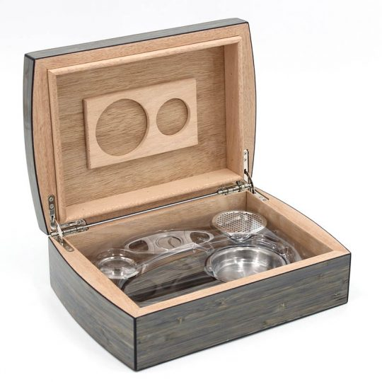 Wood Humidor Gift Set with Ashtray and Cutter CH-0120S