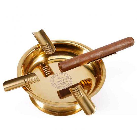 Gold Round Stainless Steel Cigar Ashtray CA-042