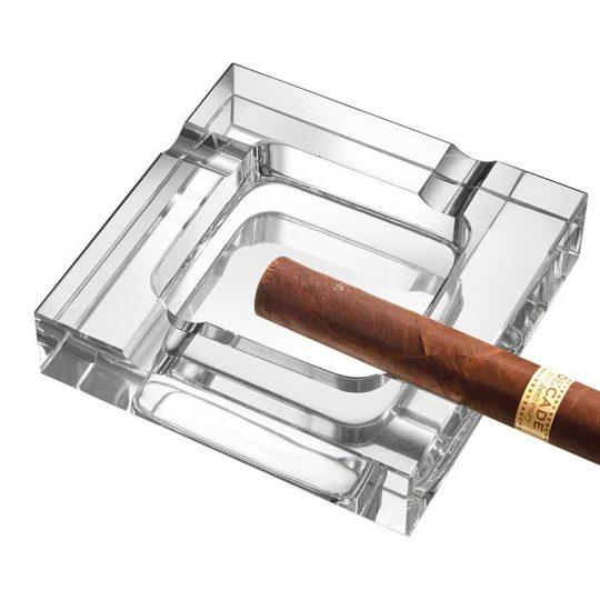 Square Crystal Cigar Ashtray CA-056