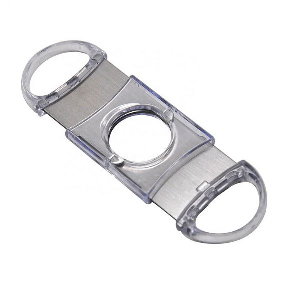 Clear Stainless Guillotine Cigar Cutter CC-1022