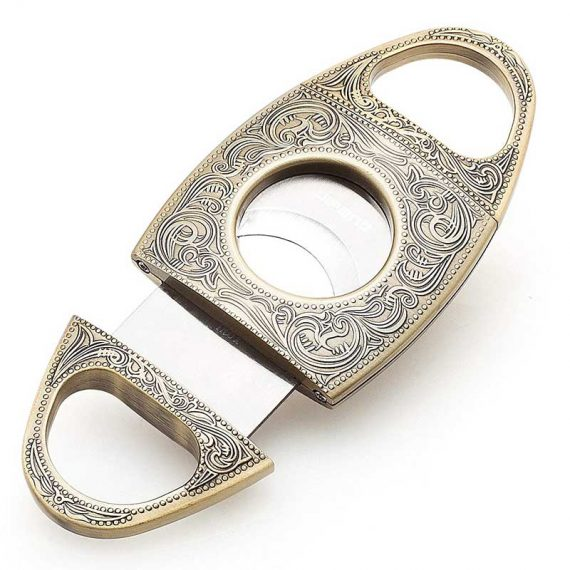 Wild West Antique Silver Cigar Cutter