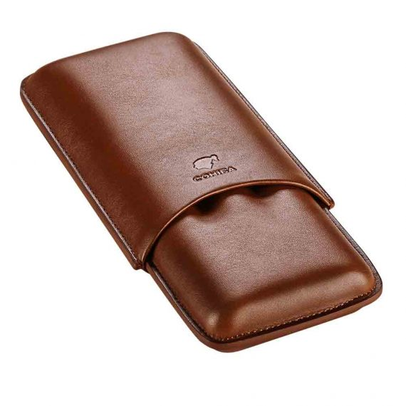 3ct Cohiba Brown Leather Cigar Case CC-8043
