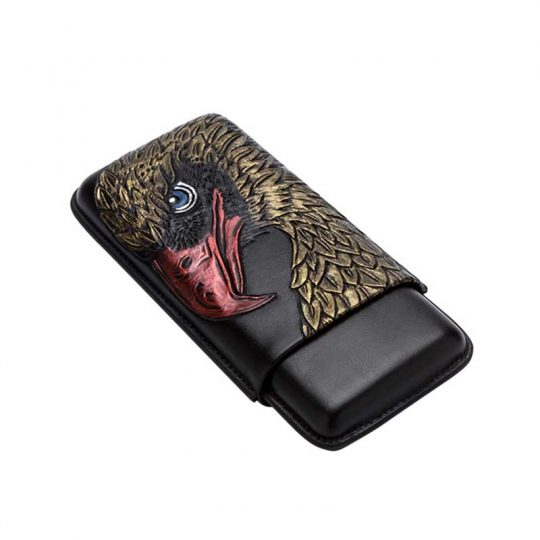 3D Embroidery Eagle Leather Cigar Case CC-8048