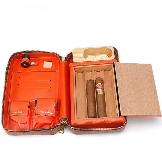 Cigar Travel Case with Cutter and Lighter CC-8056