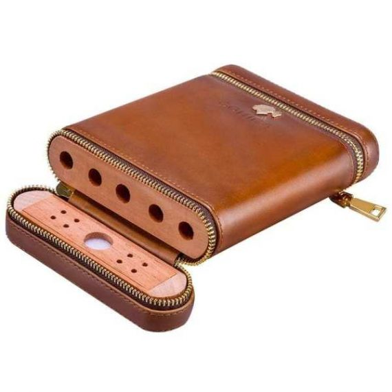 Cohiba Zipper Leather Travel Cigar Case CC-8058