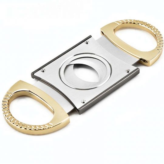 Chrome Double Guillotine Cigar Cutter CC-2036