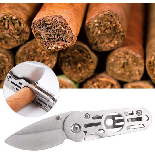 2 in 1 Cigar Cutter and Knife CC-2054
