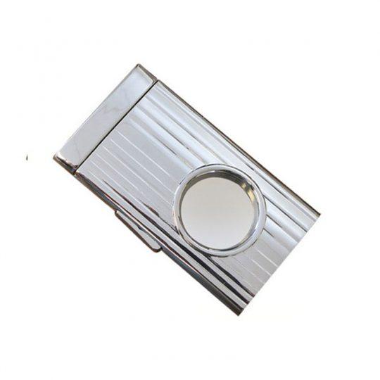 Silver Retractable Guillotine Cigar Cutter CC-2062
