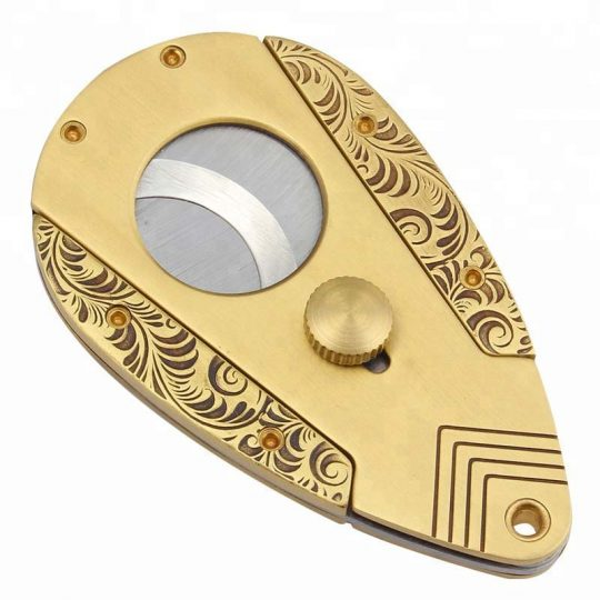 Spring-Loaded Double Guillotine Action Cigar Cutter CC-3021
