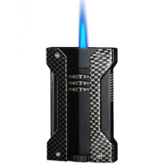 Carbon Fiber Wind Resistant Cigar Lighter CL-040