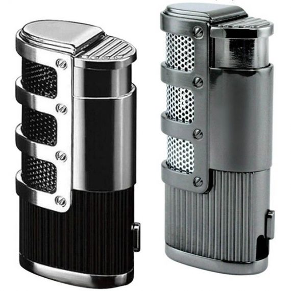 Triple Flame Torch Lighter w/ Retractable Punch Cutter CL-047