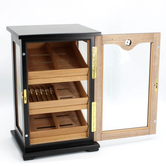 Countertop Display Humidor Cigar Storage Cabinet CH-0108