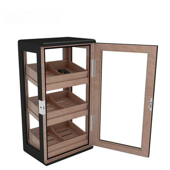 Black Matte Cigar Humidor Cabinet CH-0109