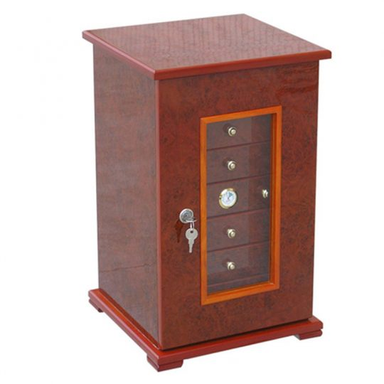 Gloss Cherry Cigar Humidor Gift Set CH-0193