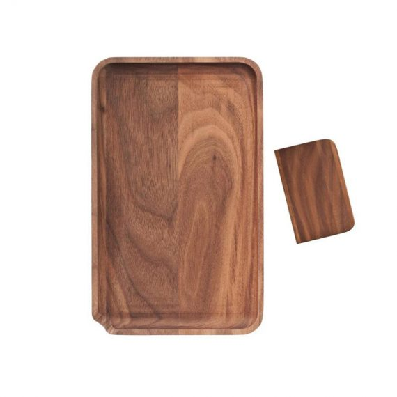 Small Wooden Rolling Tray with Scraper CH-1354
