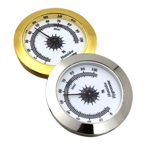 Round Analog Hygrometer for Cigar Humidor CH-86