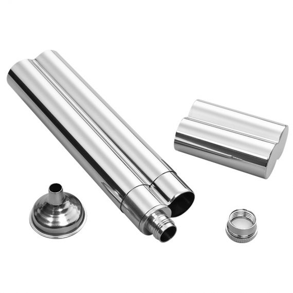 Stainless Steel Cigar Tube & Flask CT-1020