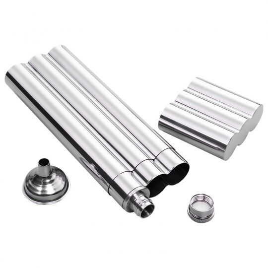 Stainless Steel Triple Cigar Case CT-1032