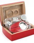 Wood Humidor Gift Set with Ashtray and Cutter CH-0120R1