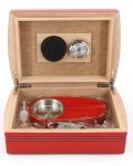 Wood Humidor Gift Set with Ashtray and Cutter CH-0120R2